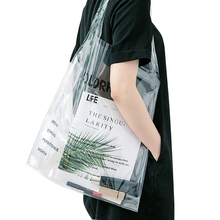 Fashion Transparent Shopping <strong>Bag</strong> <strong>Tote</strong> <strong>Bag</strong> Shoulder Clear PVC Handbag