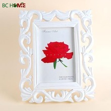 OEM Factory Carving Wooden photo frames, White Photo Pictures Frame