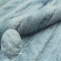 Long Hair Shaggy blue plush fur fabrics