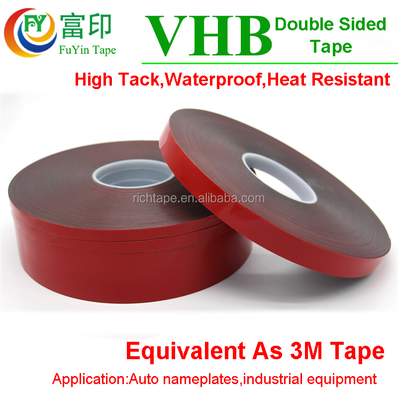 High Bonding 3M Auto Double Sided Adhesive VHB Acrylic Foam Tape