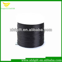 Black nylon satin cord for bracelet