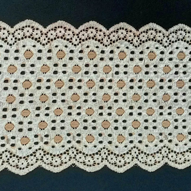 Handmade fabric 50% cotton 50% polyester double edged lace