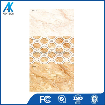 250x400mm manufacture porcelain solid color kitchen wall tile with pattern