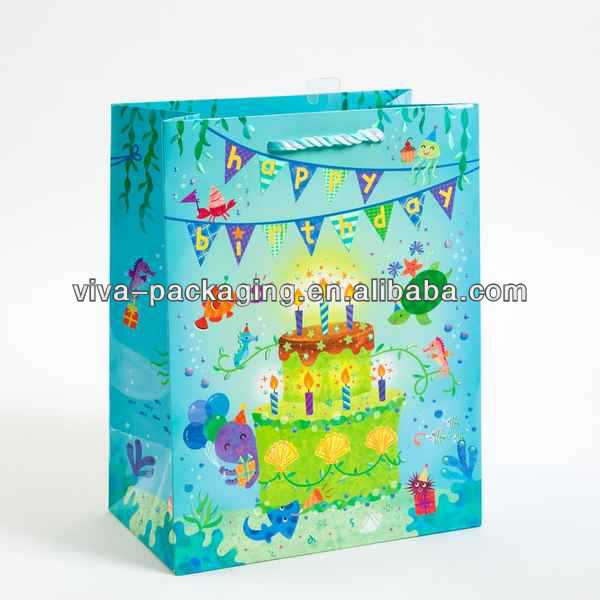 Under the Sea Birthday Large small hessian gift bag