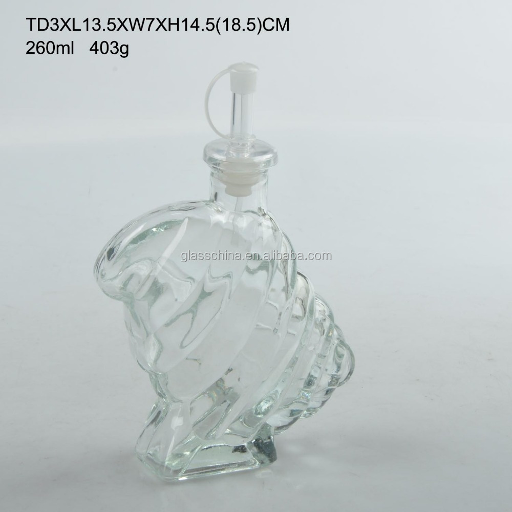 9oz 260ml Small Conch Shell Shape Glass Jar with Lid