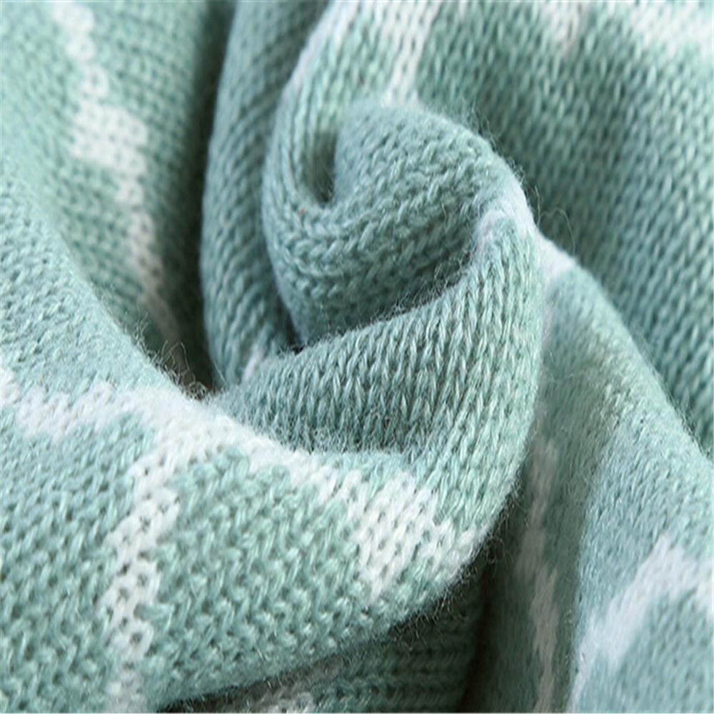 Soft touch knit throw blanket china baby blanket