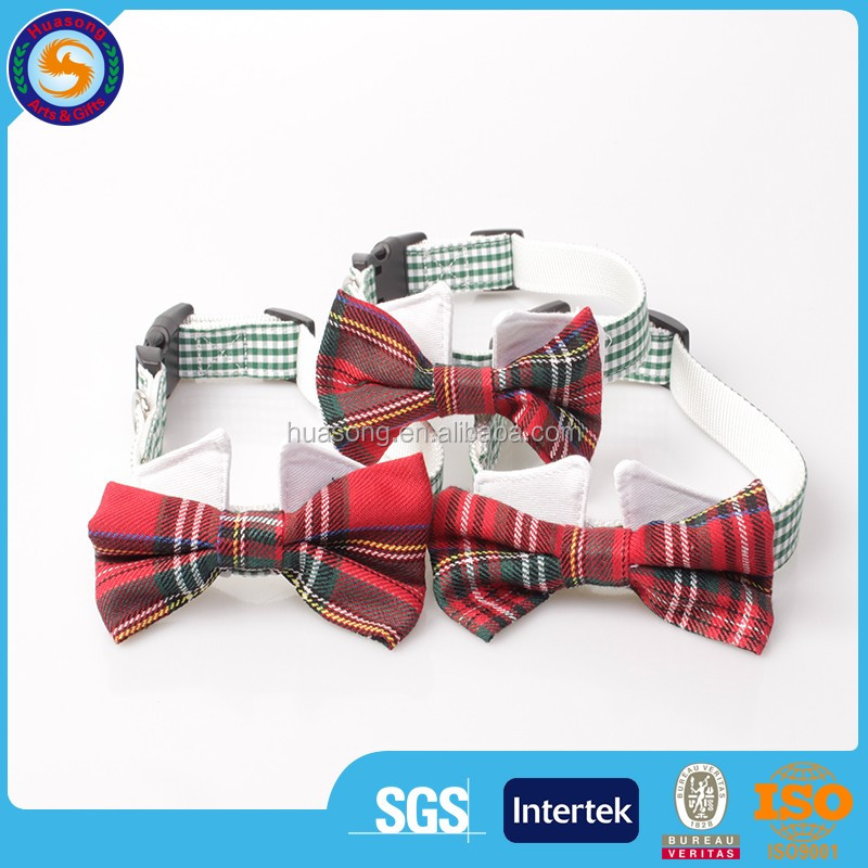 Handsomely polyester dog bow tie,collar and bow tie for pet with custom