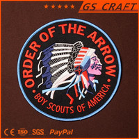 Customized durable 6.5inches boy scouts embroidery patch