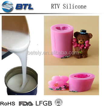 Prices of liquid standard RTV mould silicone rubber for candles&crafts