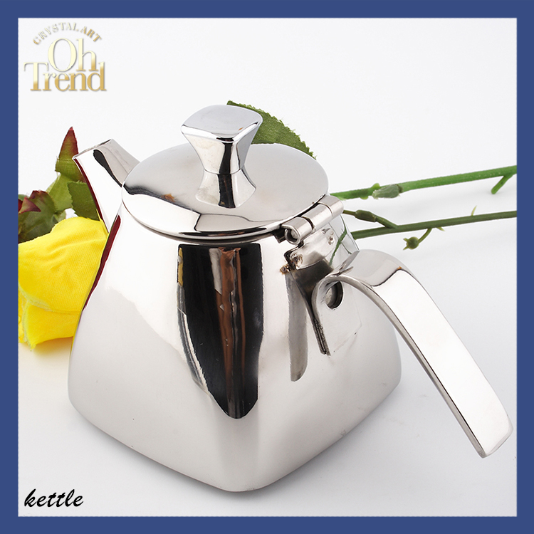 Bright Polishing Stainless steel teapot with strainer whistling kettle