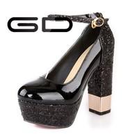 Black Blingbling Glitter Ladies Evening Shoes
