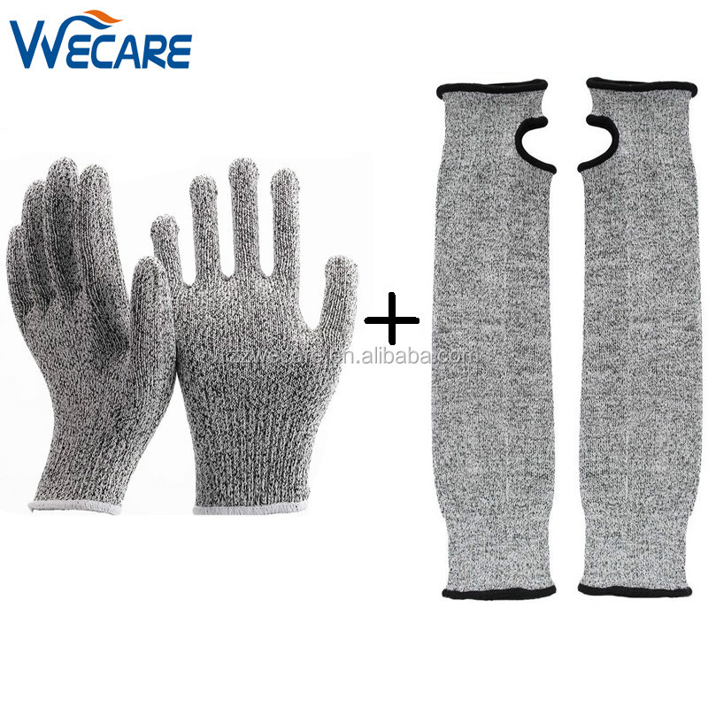 One Set Sales Hand And Arm Protection Sleeve Cut Proof Level 5 Kitchen Safety Gloves