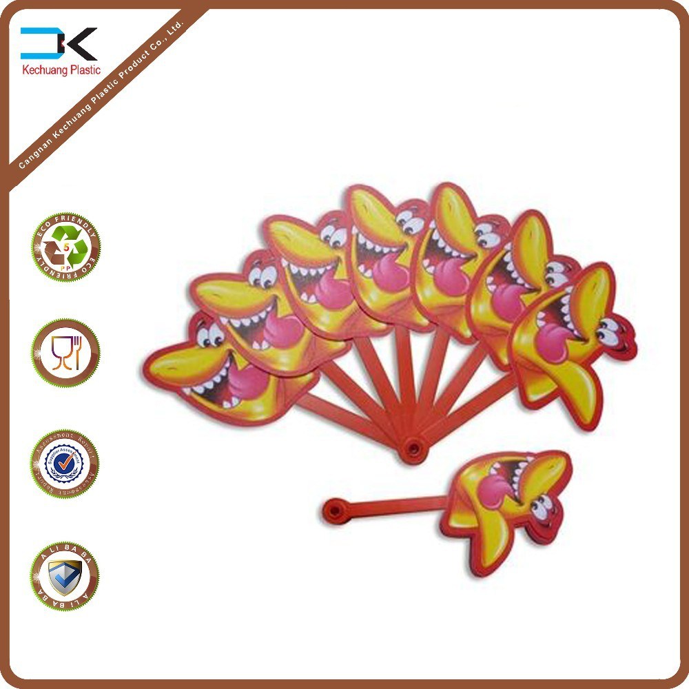 PP plastic 7 fold handle picture printed advertise fan