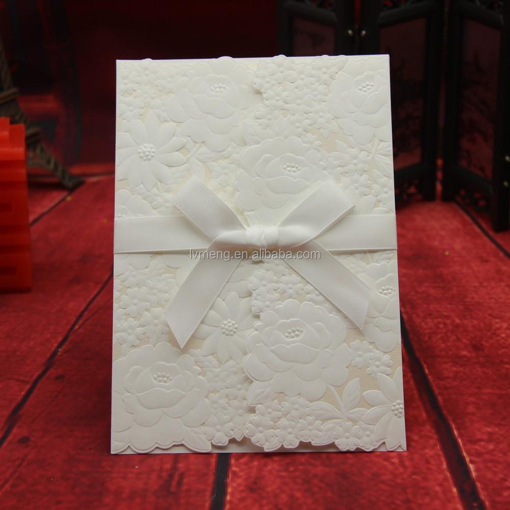 Ivory Lace Wedding Invitations,Pebble Paper Wedding Invitations ...