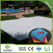 Plastic composite decking tiles used dance floor / wedding for sale