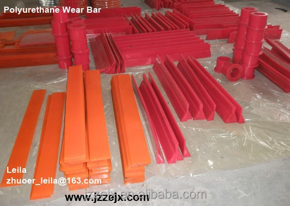 High Wear Resistant Cast Molded Polyurethane Wear Bar