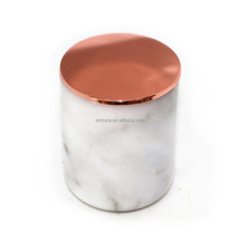 High quality carrara white marble candle jars with lid,christmas marble candle jars,marble jar with lid