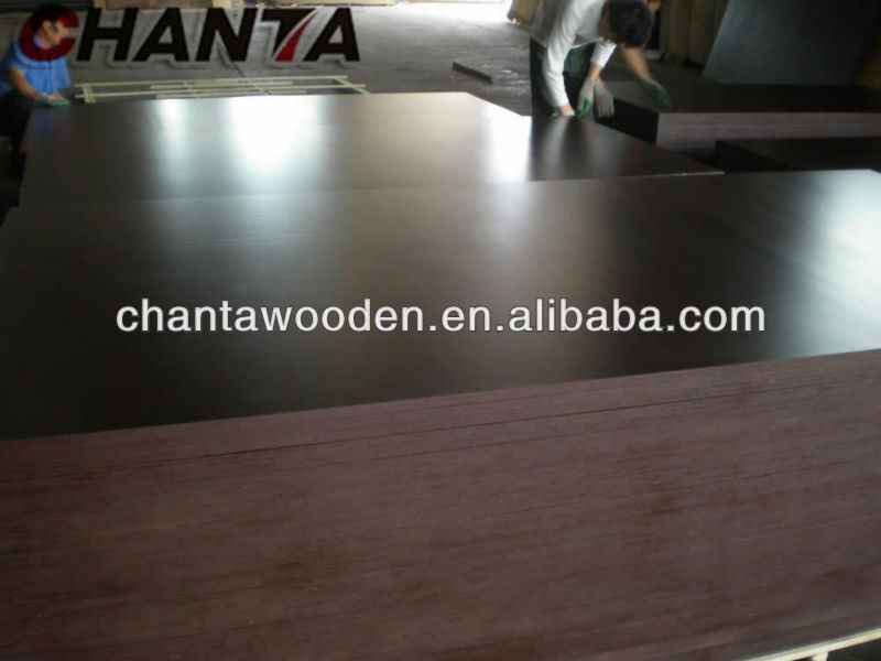 LINYI best quality phenolic glue black/brown film faced 20mm hardwood form ply