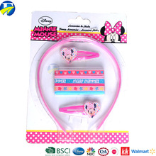 FJ Brand wholesale minnie hair accessories set kids hair bands girls plastic hair headband