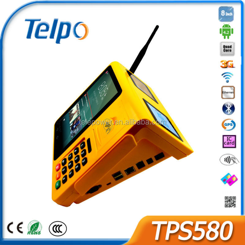 Telepower TPS580 New Design NFC Payment Terminal Electronic Payment Machine Android4.4 Hand Terminal