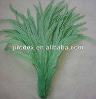 Bleach dyed Coque Tails Feather long saddle hackle feathers thin long grizzly rooster feathers for sale
