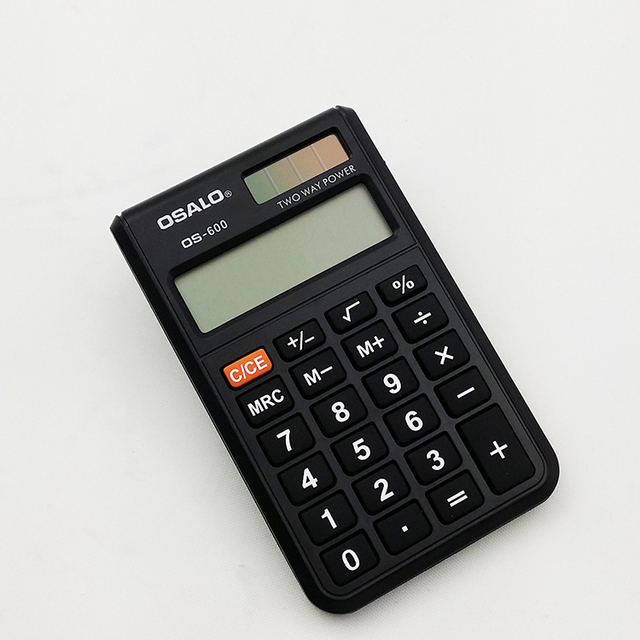 OSALO OS-600 manufacturer small pocket calculator case