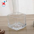 clear square glass candle holder/square glass container