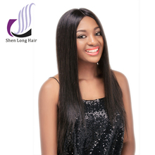 High Quality 100 Pure Virgin Human Hair Lace Front Wig Middle Part Brazilian Hair Wig