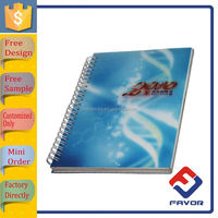 hot a4 printed 2016 ruled paper spiral notebook with high quality