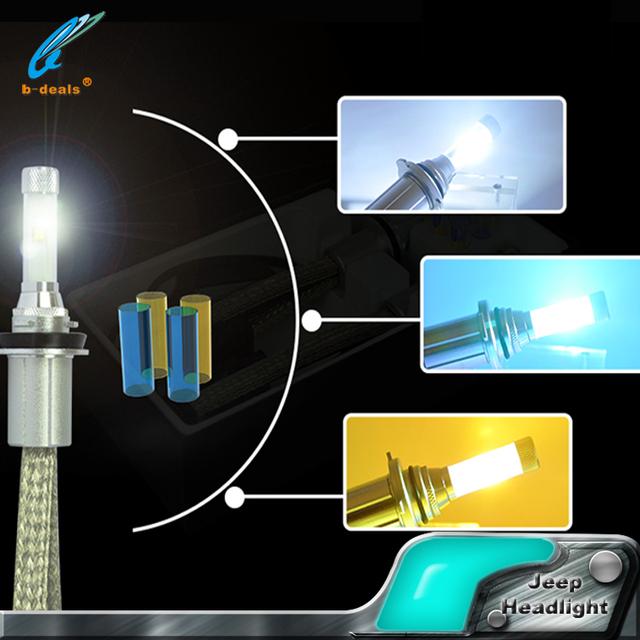 Automotive car led head light bulbs V4 h11 30W head led lamp DIY colors