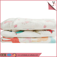 Hot sale 100% cotton baby printed reusable gauze oem diapers