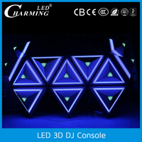 3d DJ stage console wall led video panel booth for concerts equipment