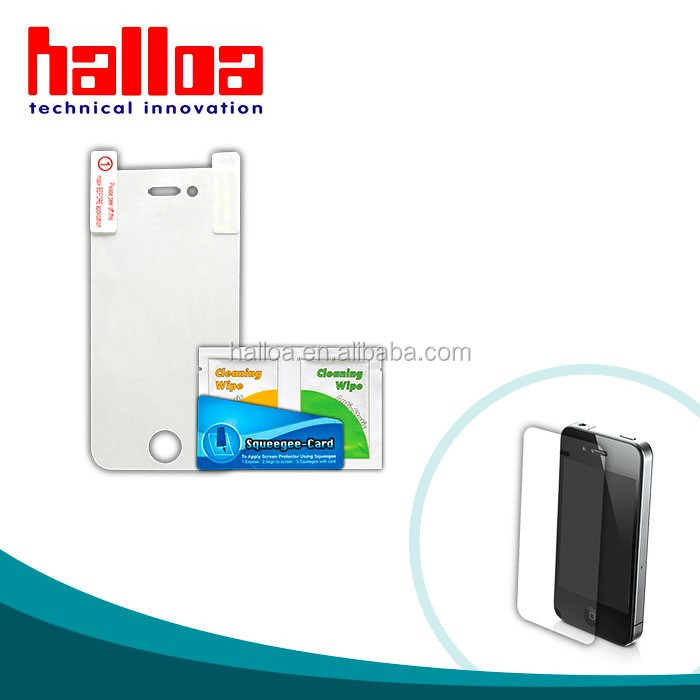 Hot Sell Clear Transparent Cellphone Screen Protector for iPhone4