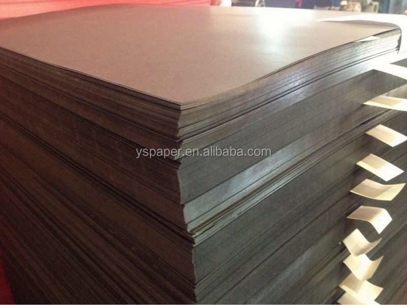 Both side coated black cardboard paper for boxes