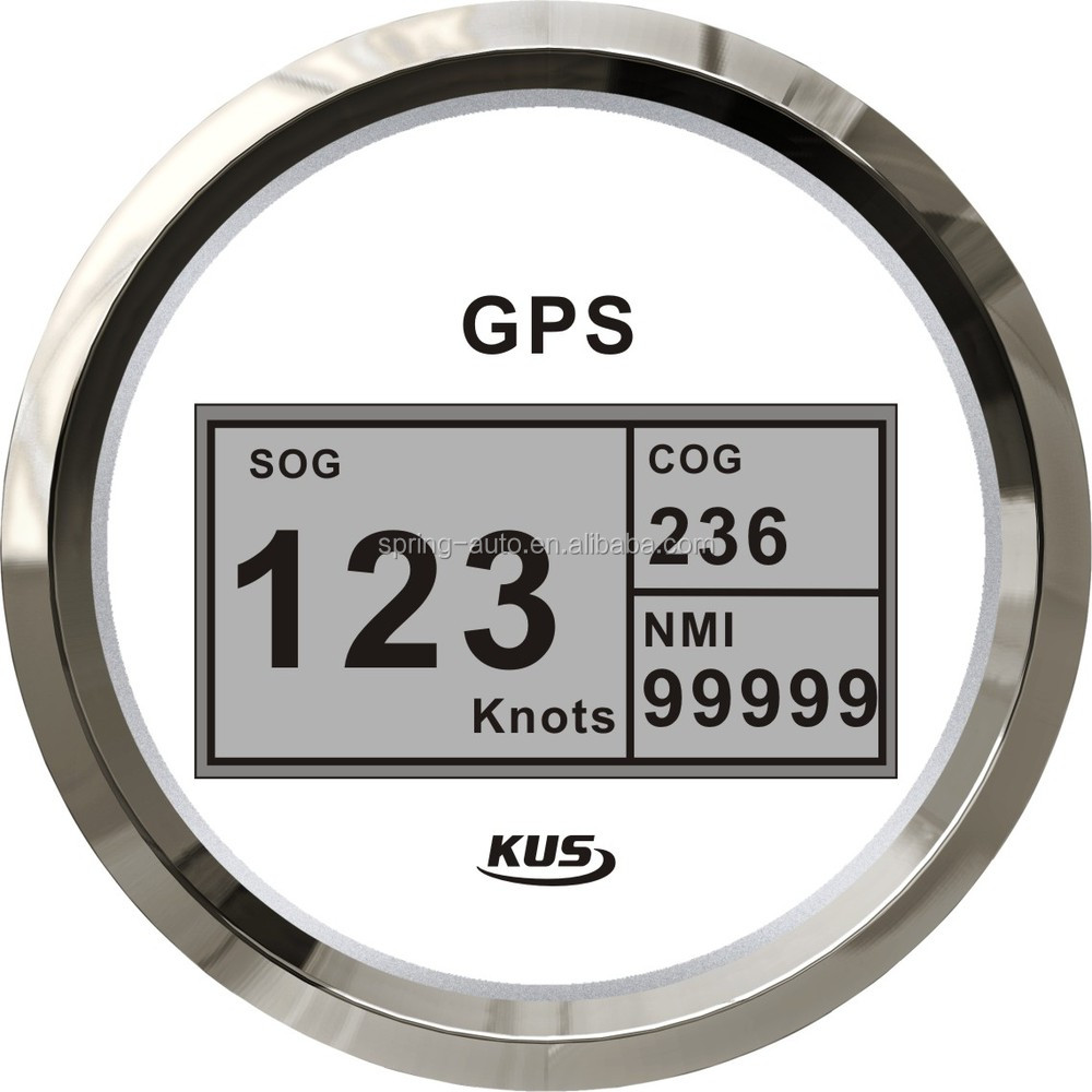 KUS 85mm Digital GPS Speedometer with mating antenna and backlight