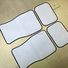 White Customised Blank Car Floor Mats Set for Sublimation Use