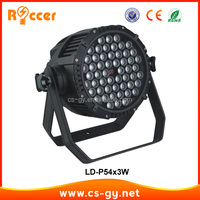 DMX Stage Lighting rgbw 3wx54 led par waterproof lights
