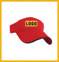 Sports Visor, Composed of 100% Cotton, with Embroidery and Print