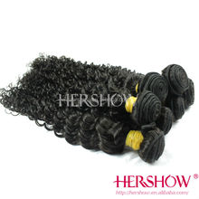 Hershow Hair Virgin Long Lasting Dyeable Virgin cambodian loose curly hair wefts
