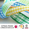 Multi Colored Weave Plaid Gingham Grosgrain Ribbon