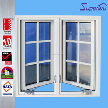 Aluminium window Casement window for Good Energy Efficiency with grill grids design