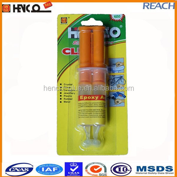 epoxy steel glue for metal resin&harder transparent color 5minutes setting