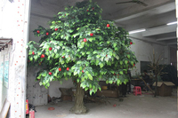 Artificial outdoor and indoor apple tree for decoration