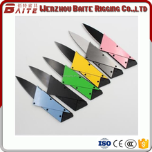 OEM Multifunctional foldable credit card tool knife pocket knife with stainless steel