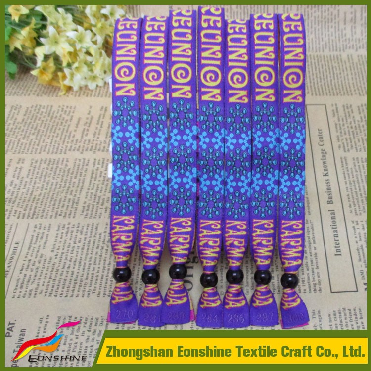 Best Selling Custom items Festival Fabric Woven Wristband Bracelet