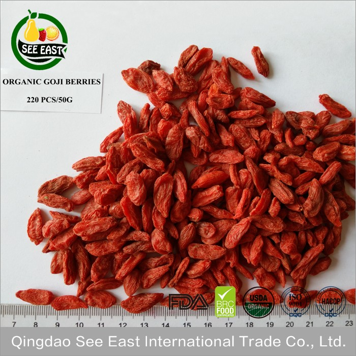 New products 2016 Hot sale dried goji berries with free sample 220Pieces/50g