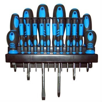 Screwdriver set with PVC handle