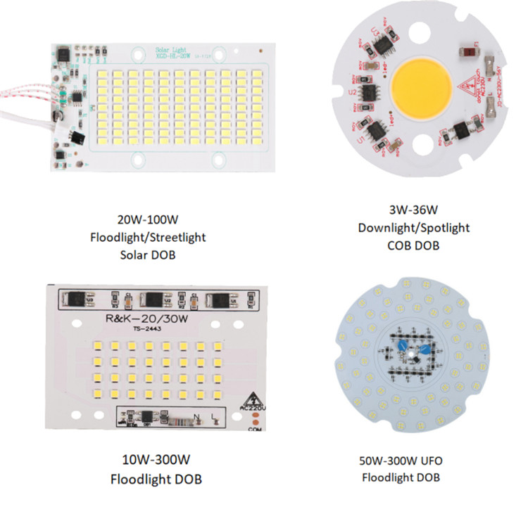 China factory MCPCB IC Driver100W AC DOB LED Module for Highbay UFO Light