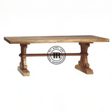Antique recycle natural wood, Solid wood dining table,hand carved leg detailing