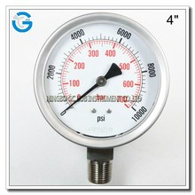 "4"" high quality steam boiler pressure gauge"